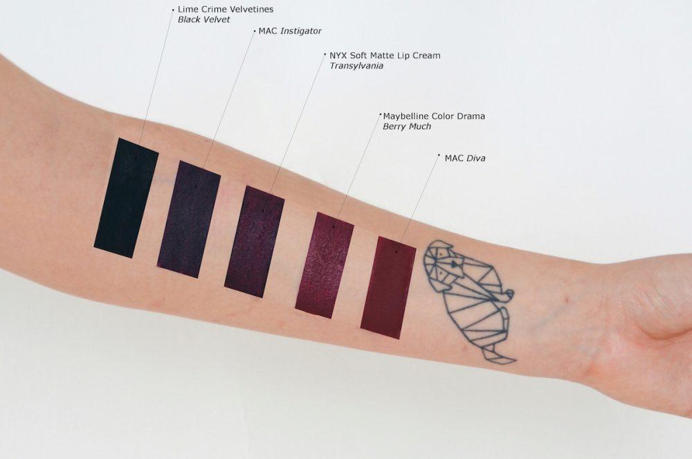 Lisa Schnatz dunkle lippenstifte / liquid lipsticks